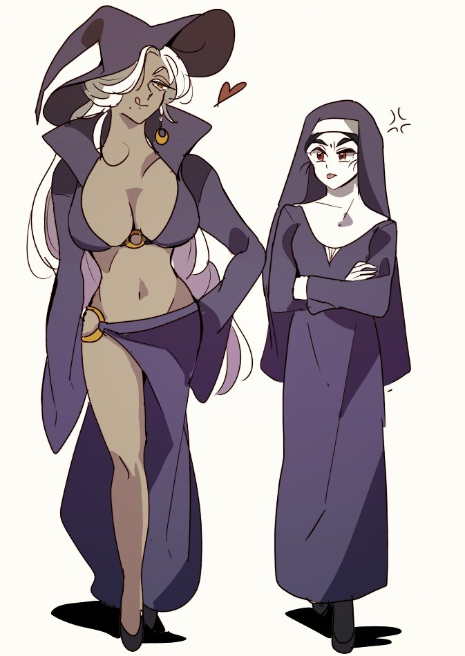 Witch and Apprentice Sister
